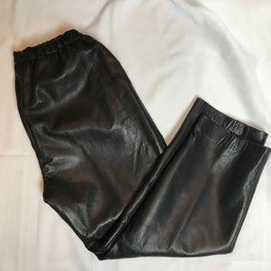 Nordstrom black lambskin trousers, XL